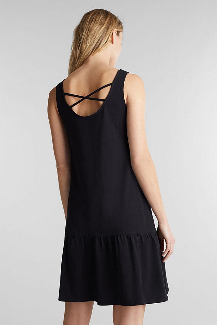 Jersey dress in 100% cotton, BLACK, detail image number 2