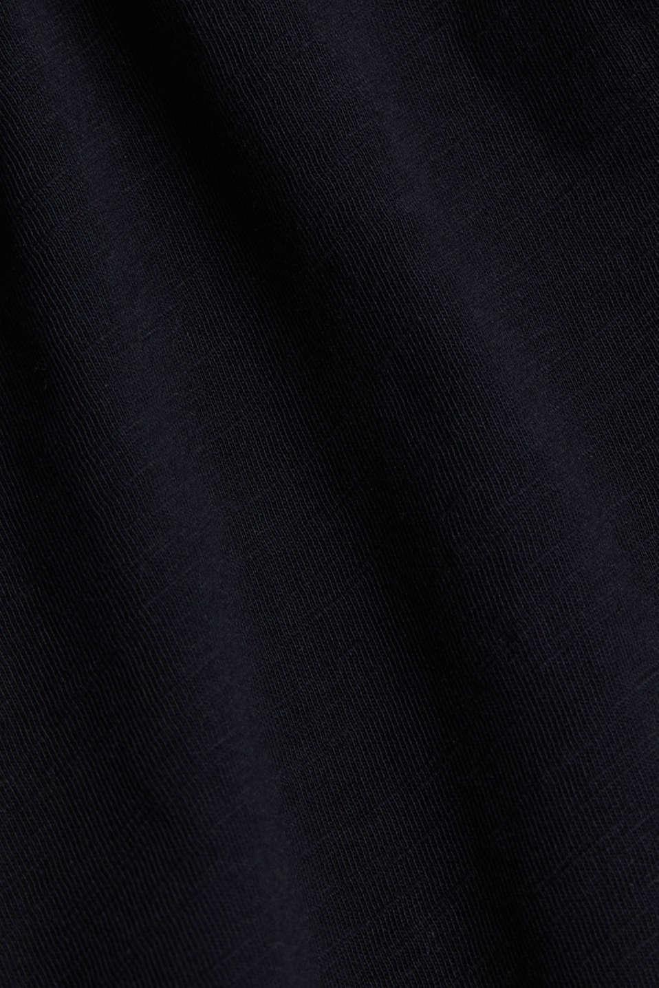 Jersey dress in 100% cotton, BLACK, detail image number 4