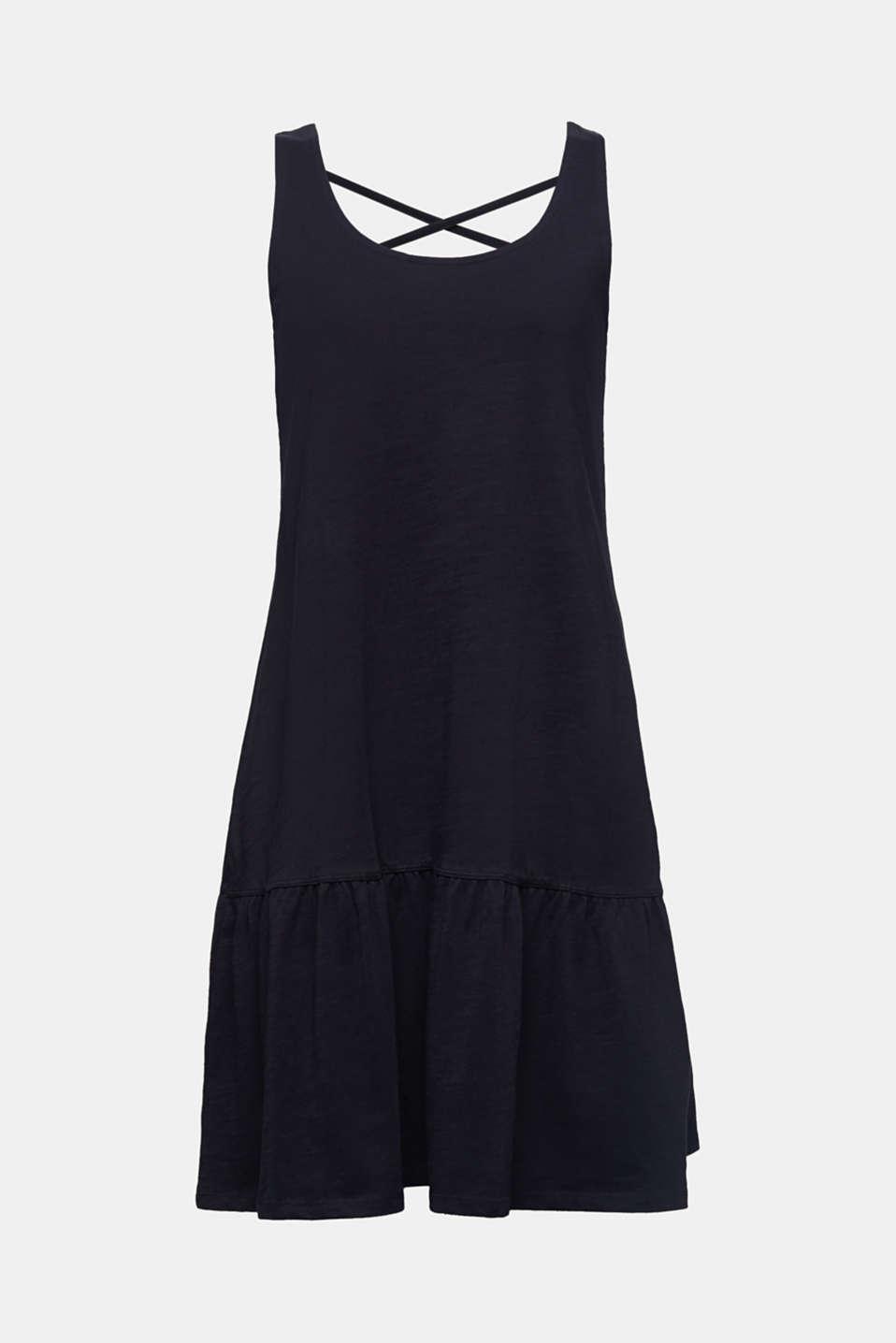 Jersey dress in 100% cotton, BLACK, detail image number 6