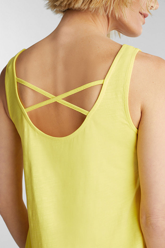 Jersey dress in 100% cotton, BRIGHT YELLOW, detail image number 3