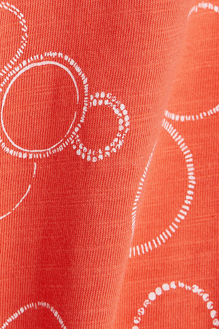Jersey dress made of 100% organic cotton, CORAL, detail image number 4
