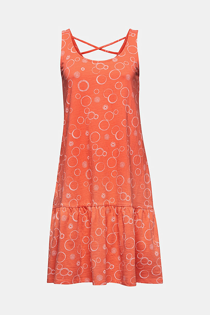 Jersey dress made of 100% organic cotton, CORAL, detail image number 5