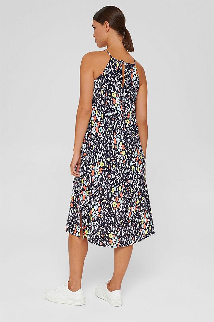 Ausgestelltes Kleid mit Print und Gürtel, NAVY, detail image number 2