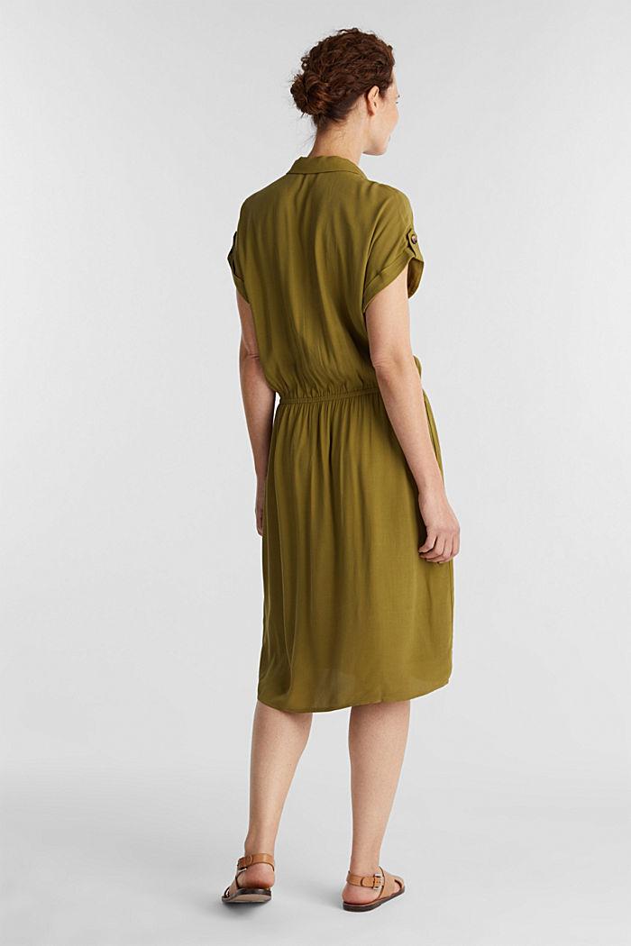Dress made of LENZING™ ECOVERO™, OLIVE, detail image number 2