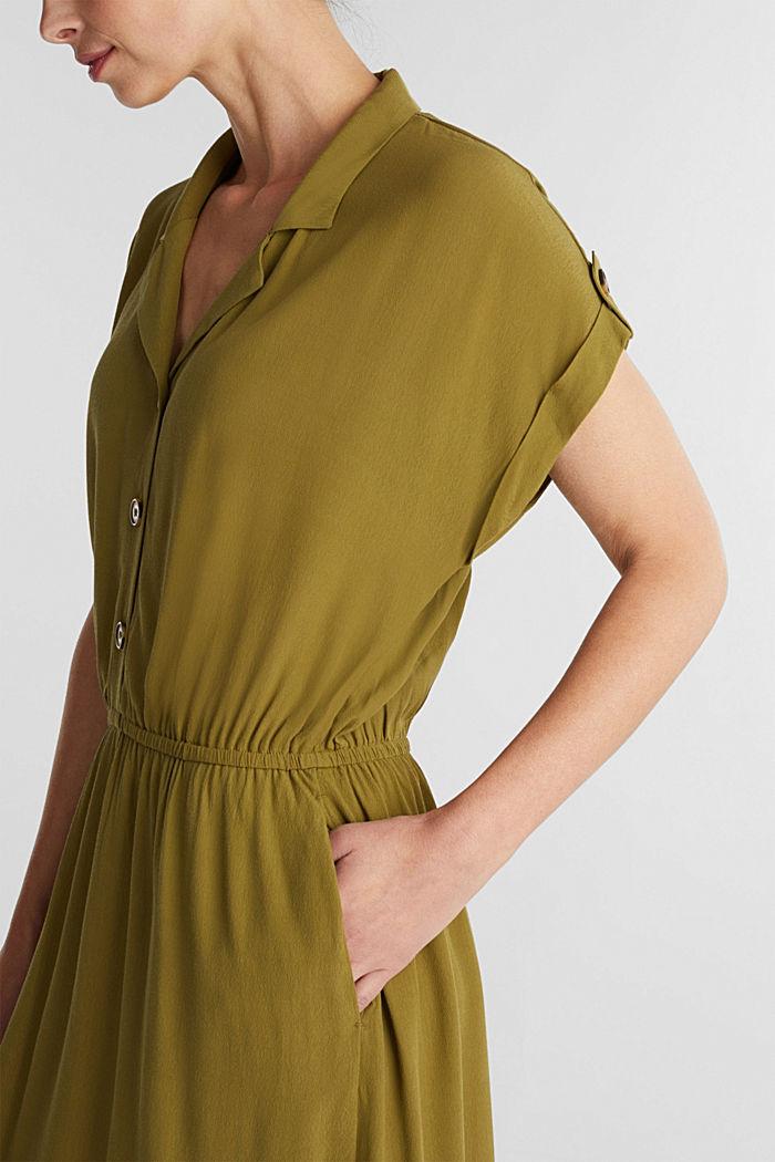 Dress made of LENZING™ ECOVERO™, OLIVE, detail image number 3