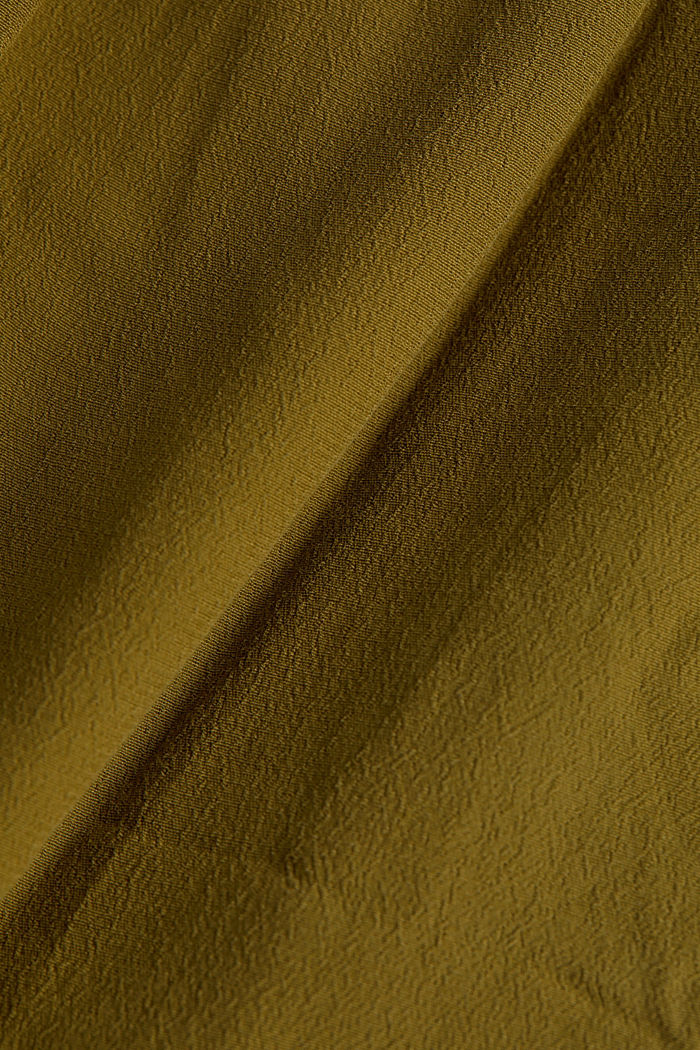 Dress made of LENZING™ ECOVERO™, OLIVE, detail image number 4