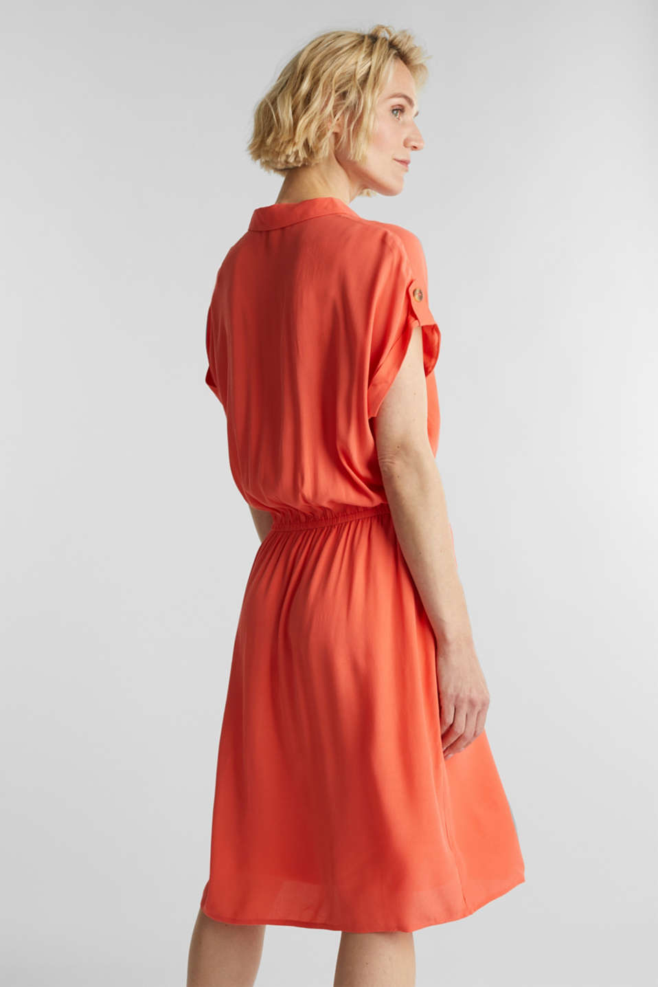 Dress made of LENZING™ ECOVERO™, CORAL, detail image number 2