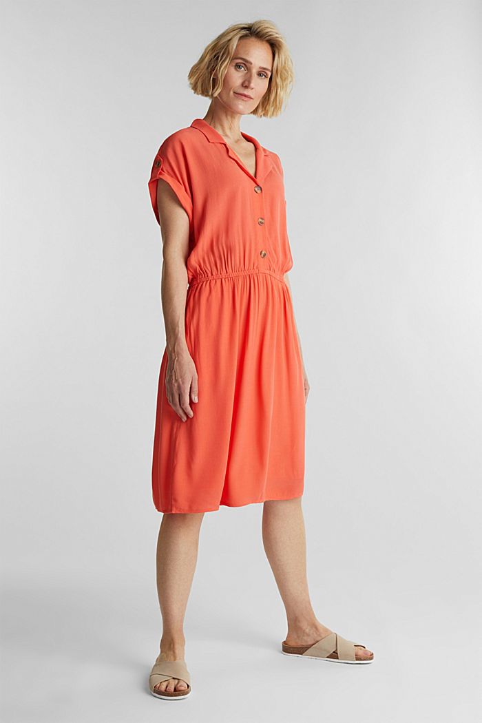 Dress made of LENZING™ ECOVERO™, CORAL, detail image number 1