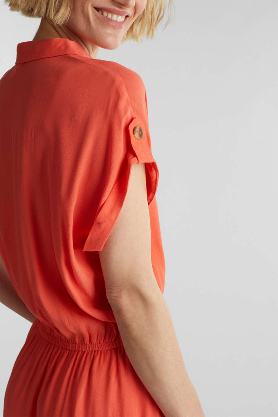 Dress made of LENZING™ ECOVERO™, CORAL, detail image number 3