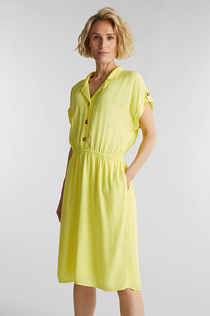 Dress made of LENZING™ ECOVERO™, BRIGHT YELLOW, detail image number 0