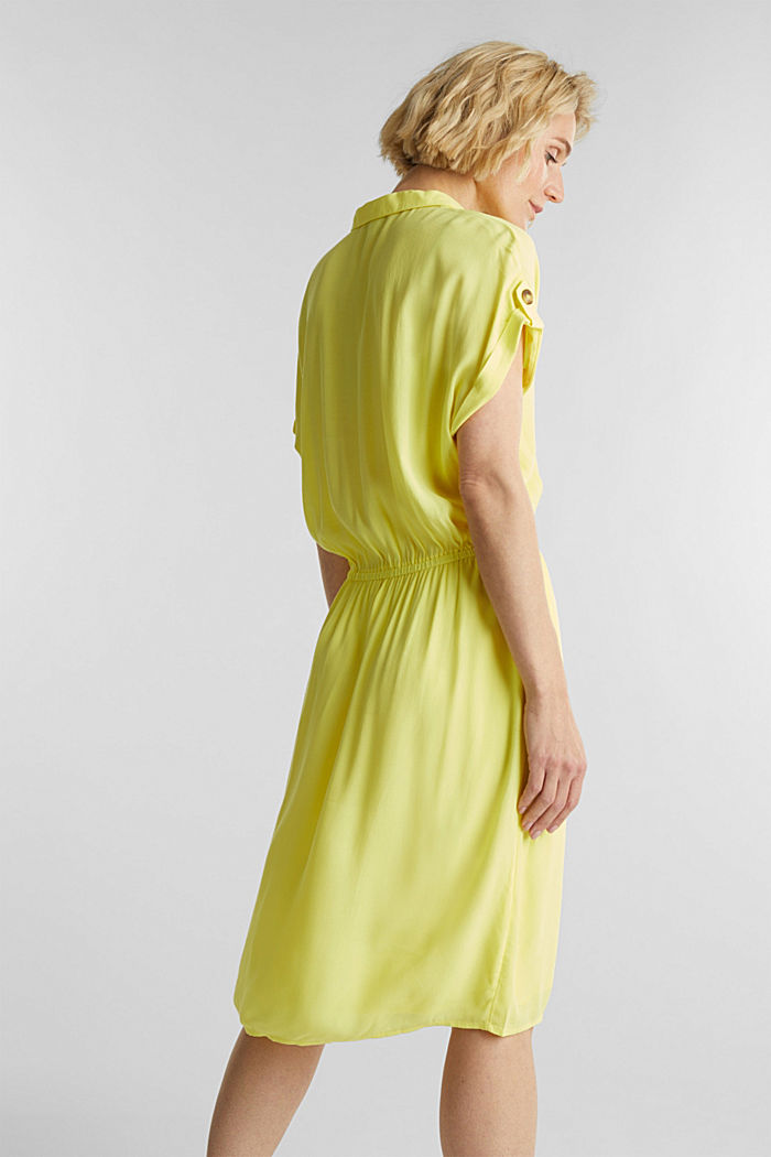 Dress made of LENZING™ ECOVERO™, BRIGHT YELLOW, detail image number 1