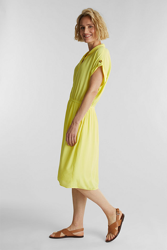 Dress made of LENZING™ ECOVERO™, BRIGHT YELLOW, detail image number 3