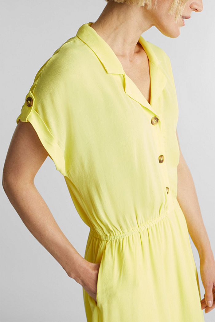 Dress made of LENZING™ ECOVERO™, BRIGHT YELLOW, detail image number 2
