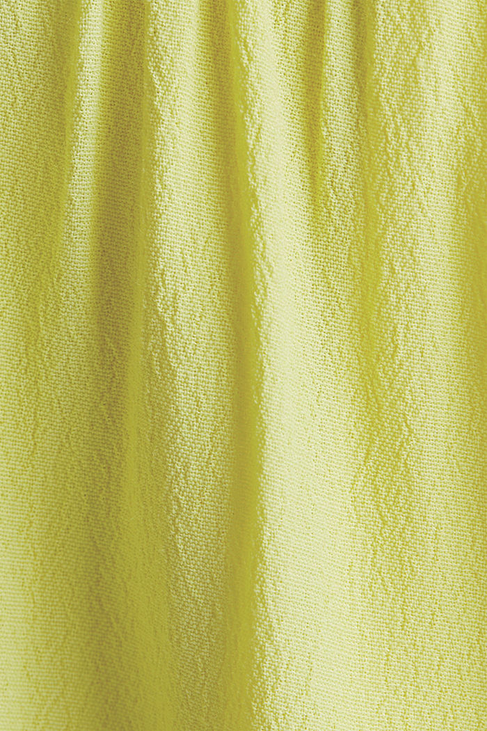 Dress made of LENZING™ ECOVERO™, BRIGHT YELLOW, detail image number 4