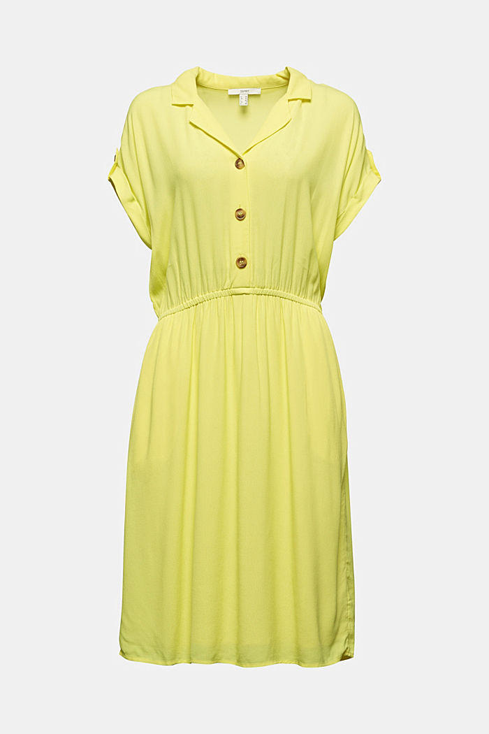 Dress made of LENZING™ ECOVERO™, BRIGHT YELLOW, detail image number 5