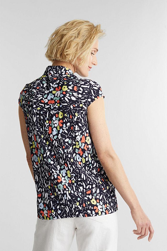 Top façon blouse à teneur en LENZING™ ECOVERO™, NAVY, detail image number 3