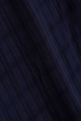 Textured blouse made of LENZING™ ECOVERO™, NAVY, detail