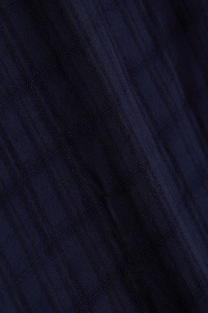 Textured blouse made of LENZING™ ECOVERO™, NAVY, detail image number 4