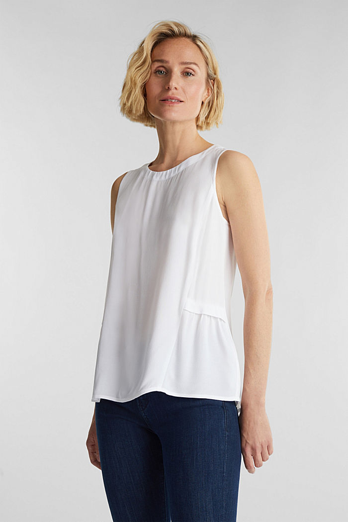 Blouse top with LENZING™ ECOVERO