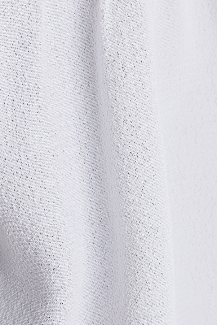 Blouse top with LENZING™ ECOVERO, WHITE, detail image number 4