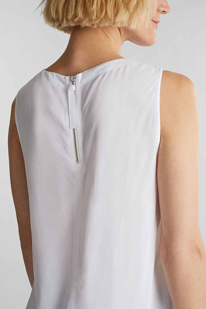 Blouse top with LENZING™ ECOVERO, WHITE, detail image number 5