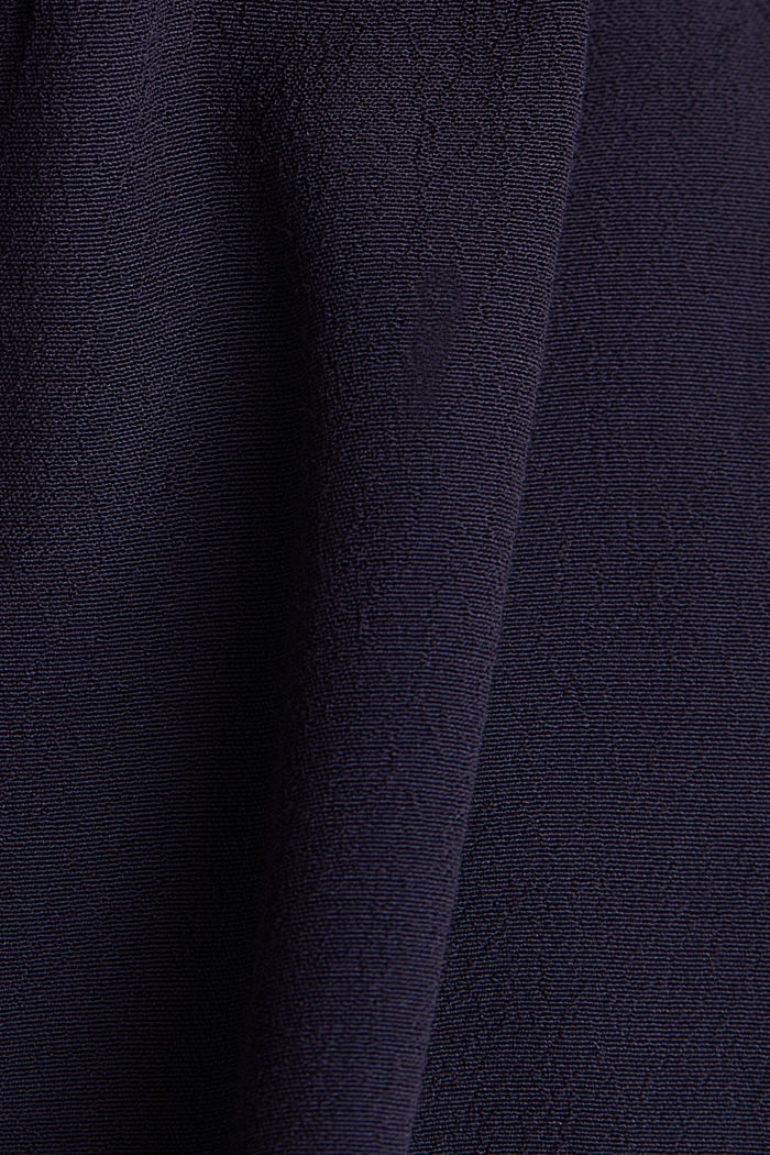 Blouse top with LENZING™ ECOVERO, NAVY, detail image number 4