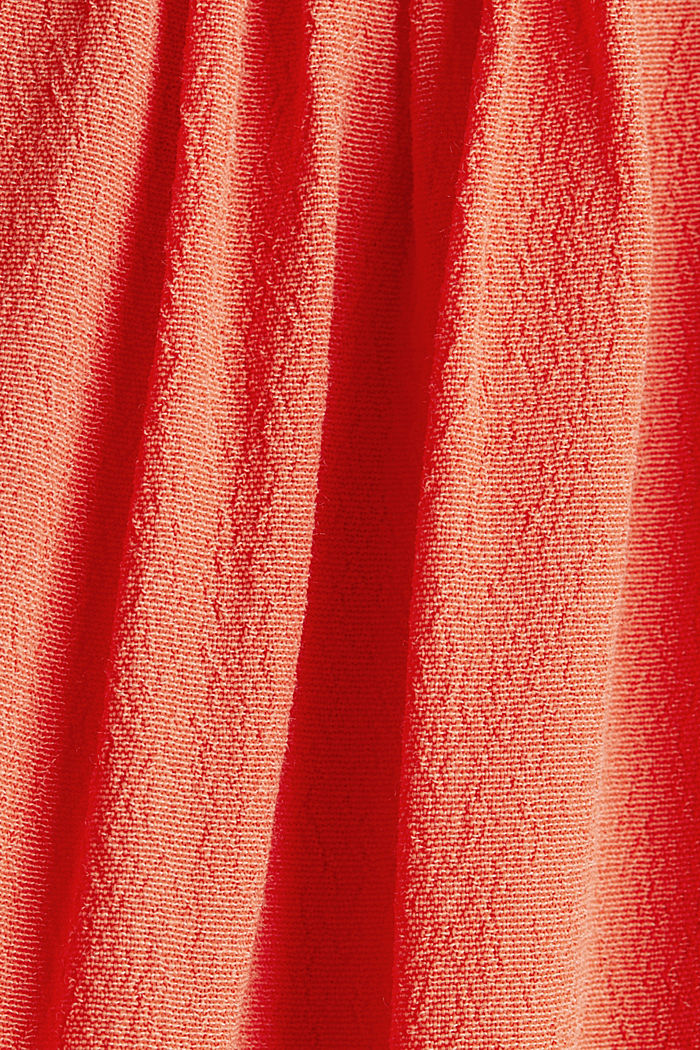 Crêpe top containing LENZING™ ECOVERO™, CORAL, detail image number 4