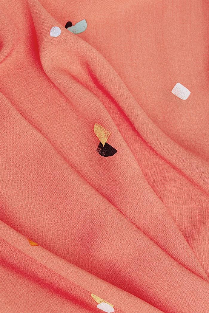 Blusentop aus LENZING™ ECOVERO™, CORAL, detail image number 4