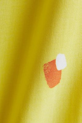 Blouse top made of LENZING™ ECOVERO™, BRIGHT YELLOW 4, detail