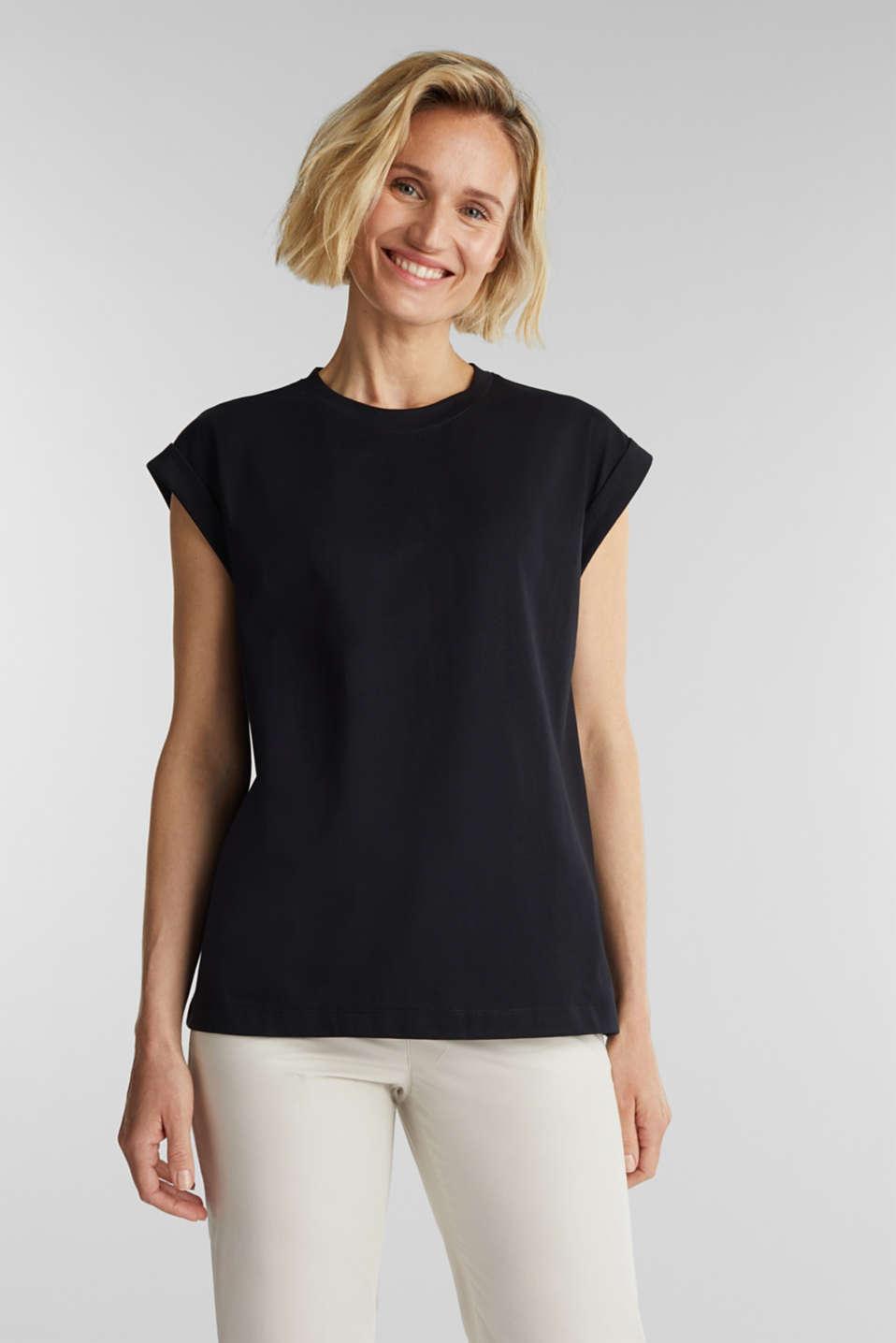 100% cotton T-shirt, BLACK, detail image number 0