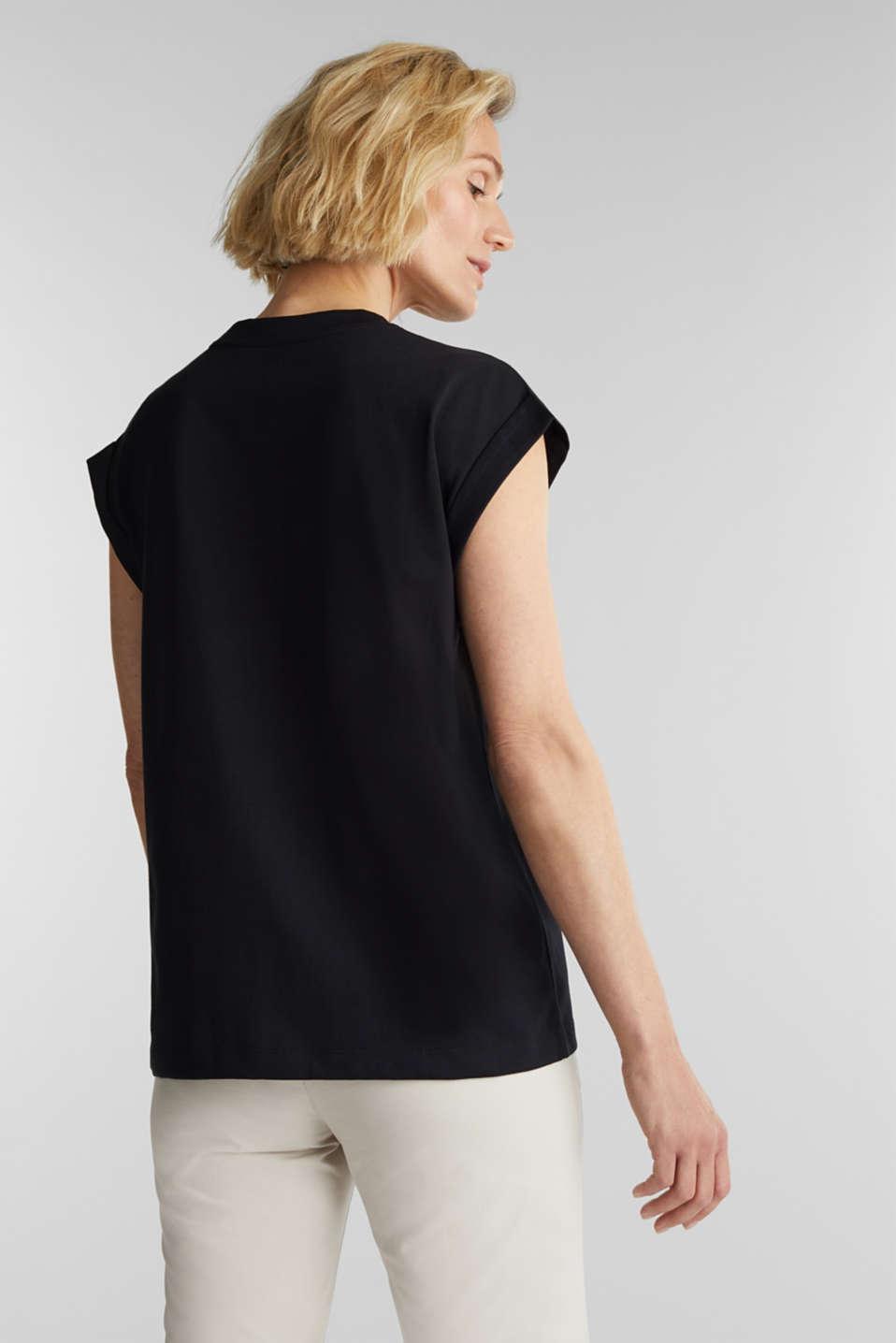 100% cotton T-shirt, BLACK, detail image number 3