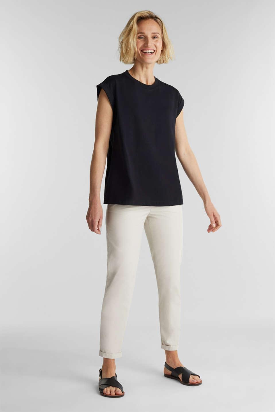 100% cotton T-shirt, BLACK, detail image number 1