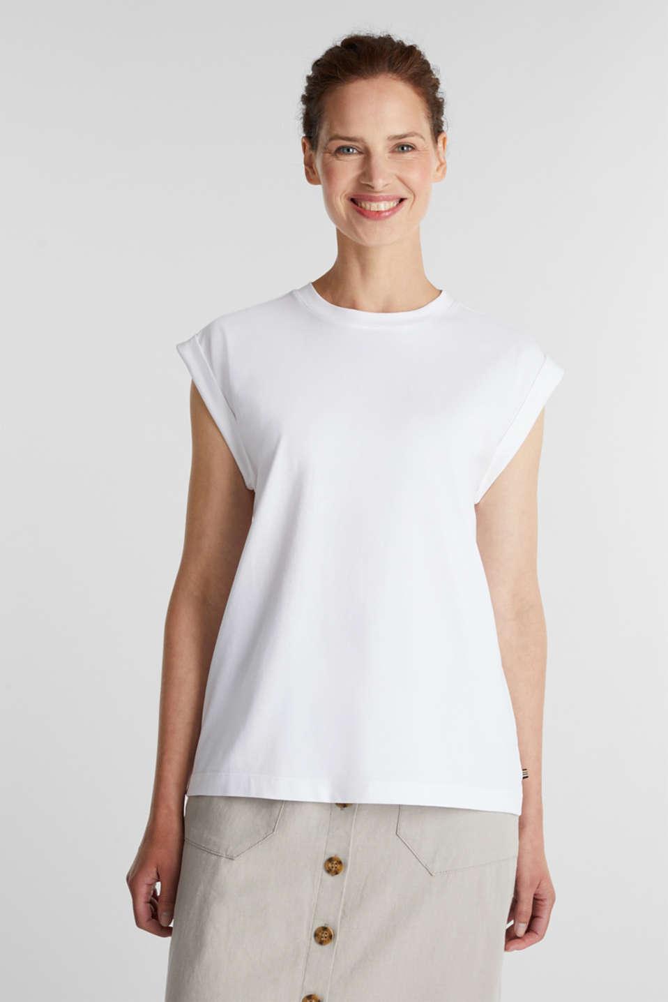 100% cotton T-shirt, WHITE, detail image number 0