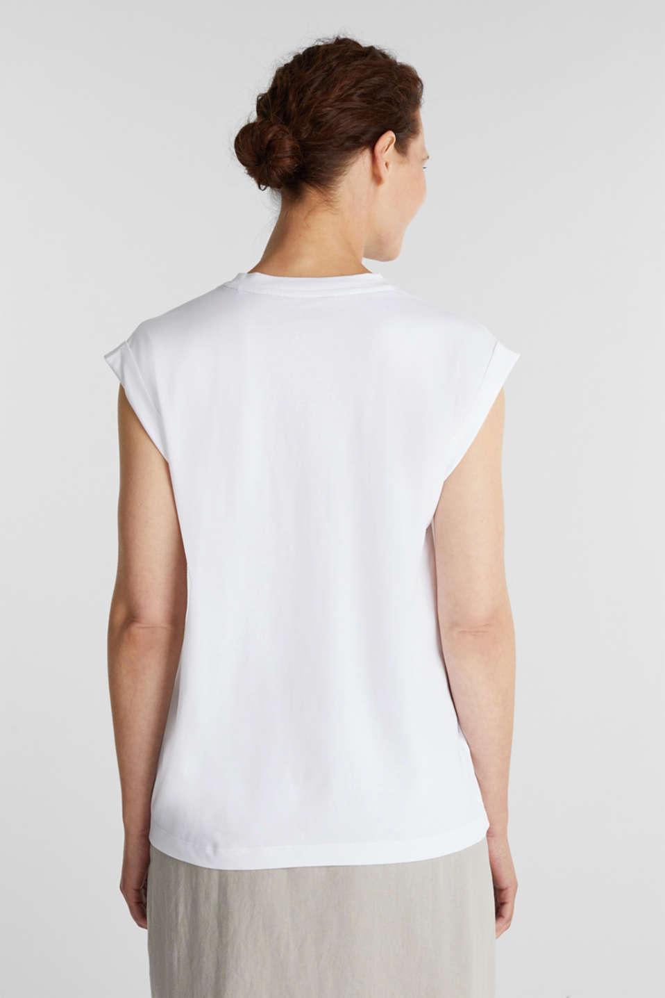 100% cotton T-shirt, WHITE, detail image number 3