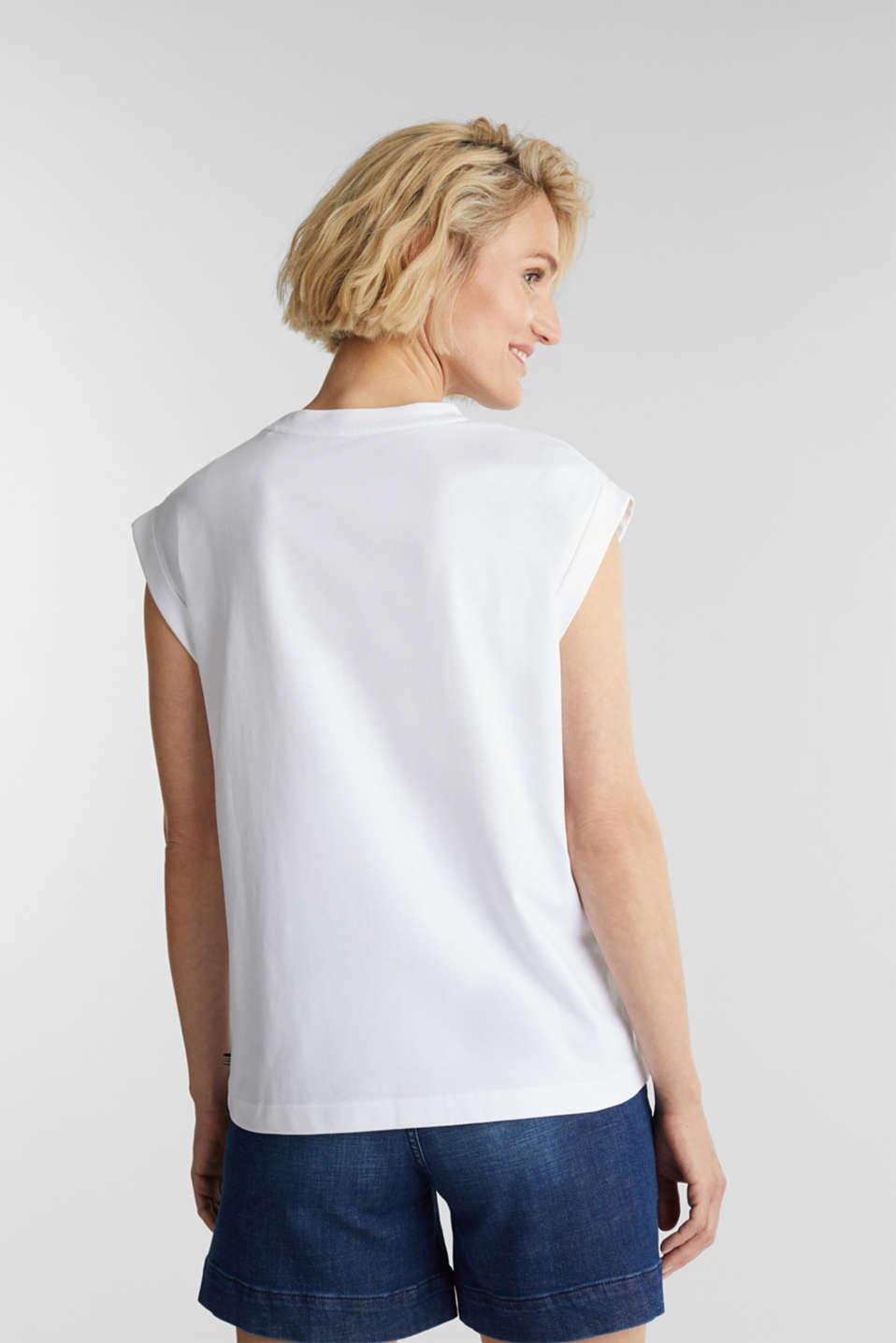 Logo T-shirt made of 100% organic cotton, WHITE, detail image number 3