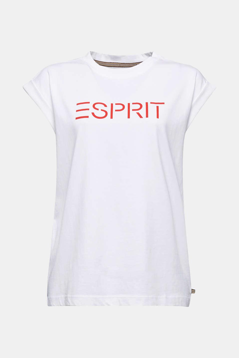 Logo T-shirt made of 100% organic cotton, WHITE, detail image number 6