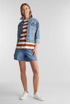 Striped T-shirt, 100% cotton, RUST BROWN 4, detail