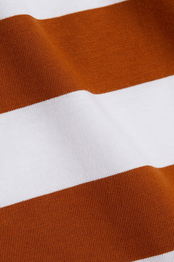 Striped T-shirt, 100% cotton, RUST BROWN, detail image number 3