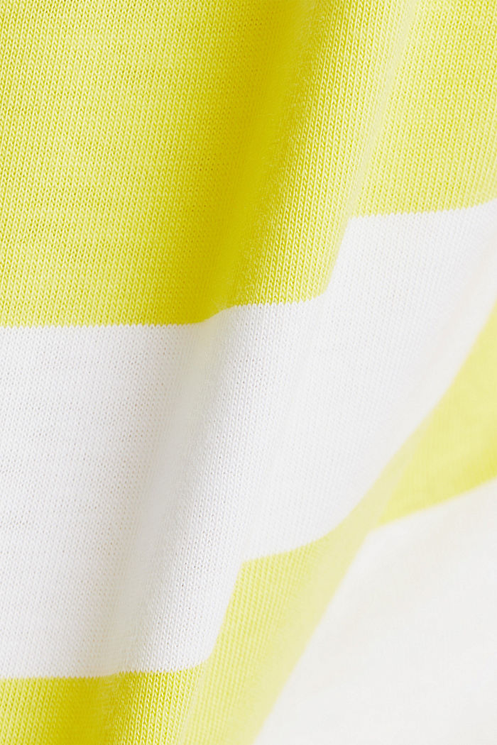 Striped T-shirt, 100% cotton, BRIGHT YELLOW, detail image number 4