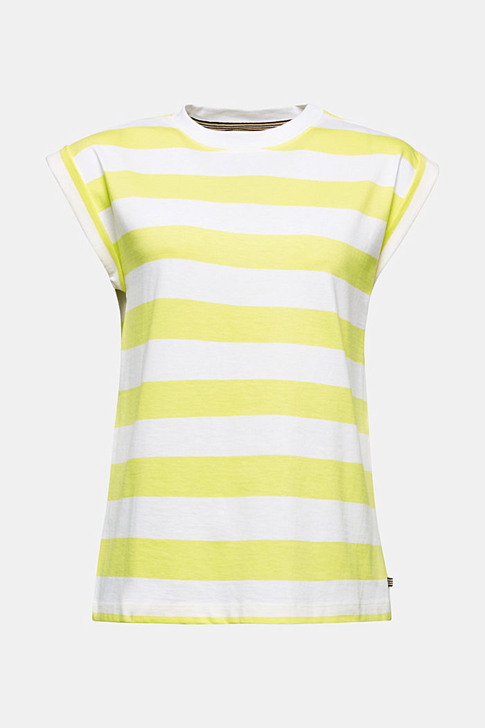 Striped T-shirt, 100% cotton, BRIGHT YELLOW, detail image number 5