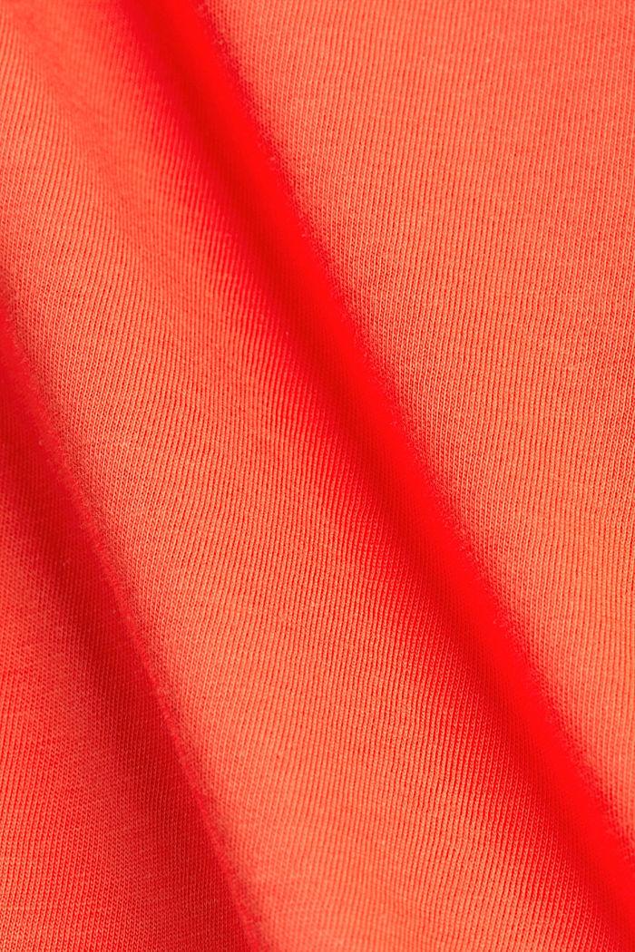 Tričko s dírkovoukrajkou, bio bavlna, CORAL, detail image number 4