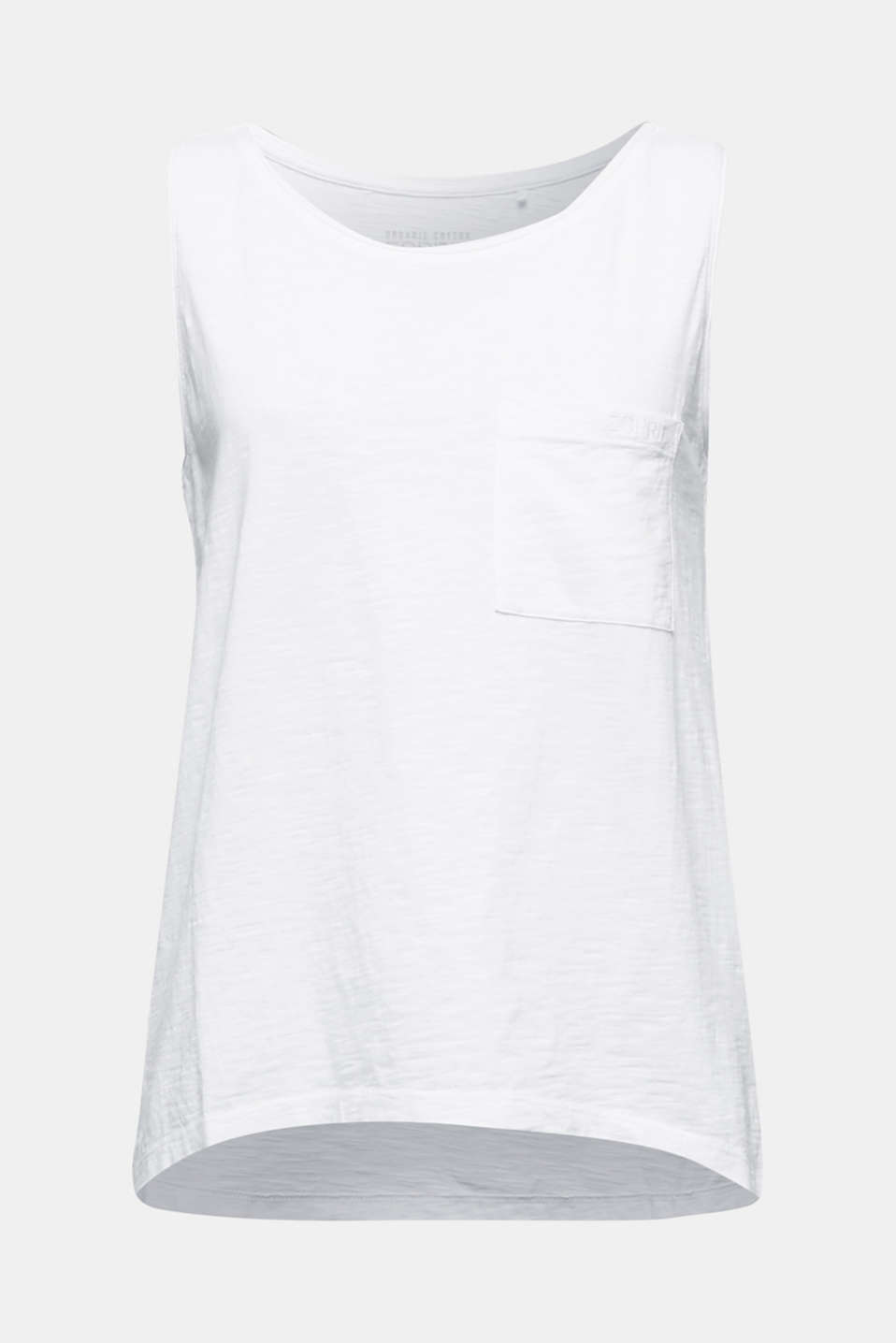 Top made of 100% organic cotton, WHITE, detail image number 5