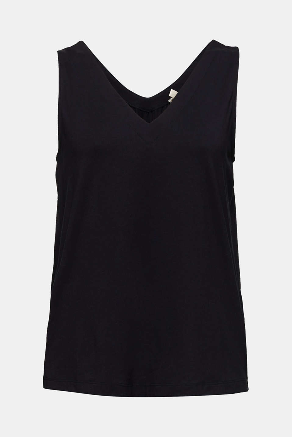 Top with a bow detail, BLACK, detail image number 6