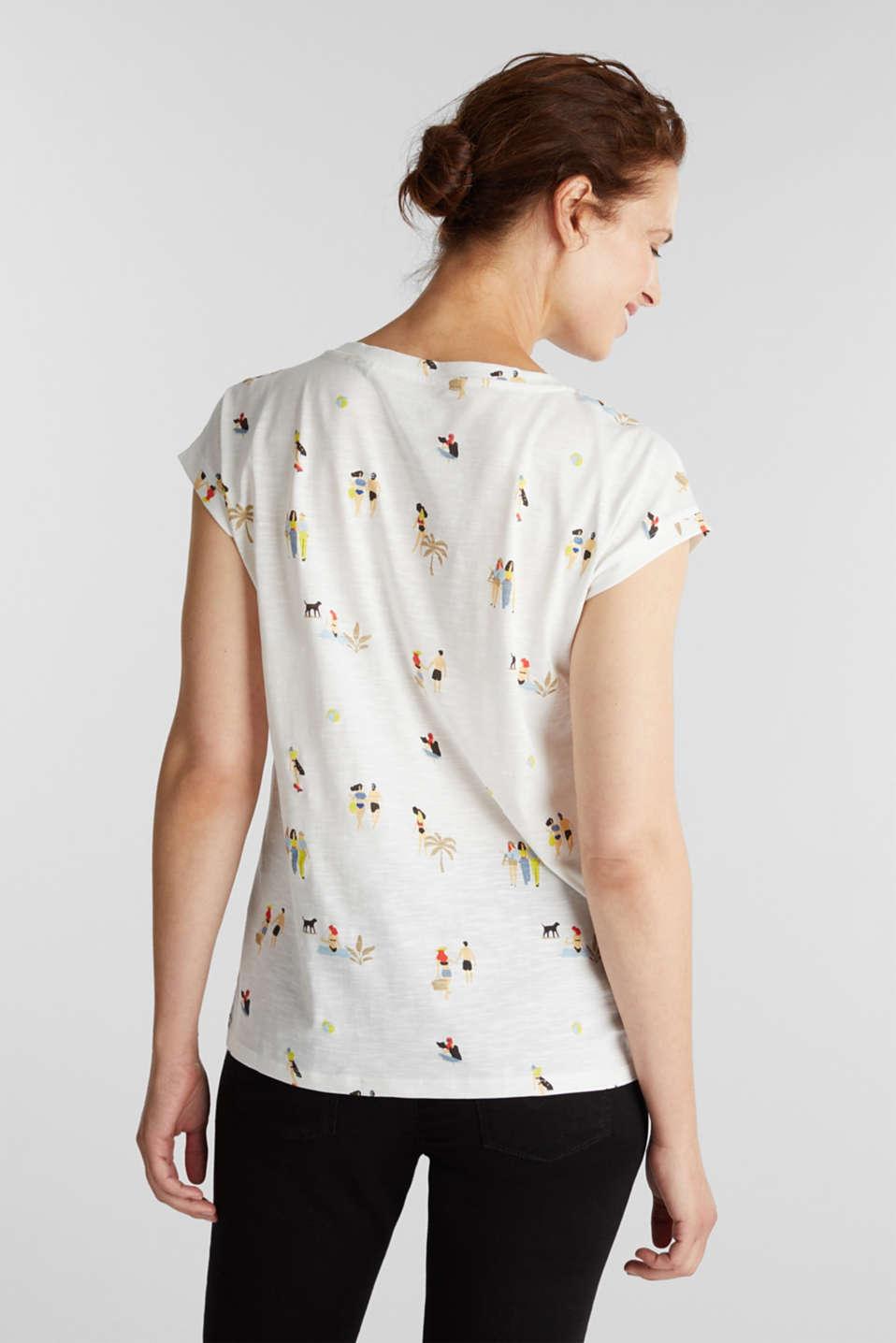 Print T-shirt, 100% organic cotton, OFF WHITE, detail image number 3