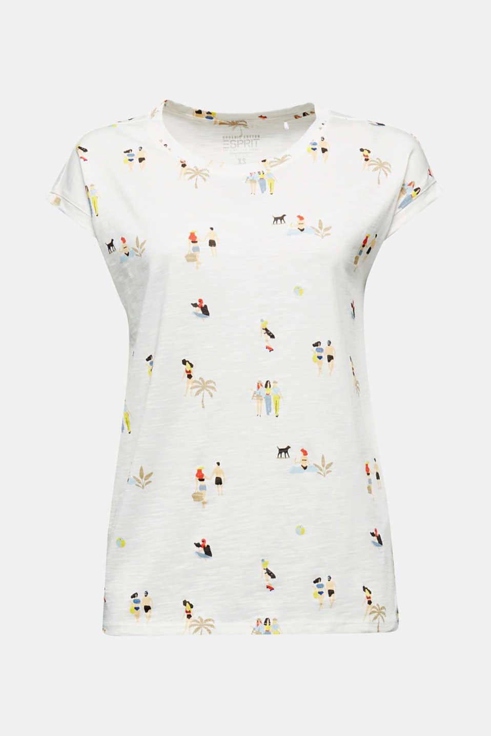 Print T-shirt, 100% organic cotton, OFF WHITE, detail image number 6