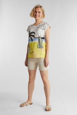 Print T-shirt, 100% organic cotton, OFF WHITE, detail