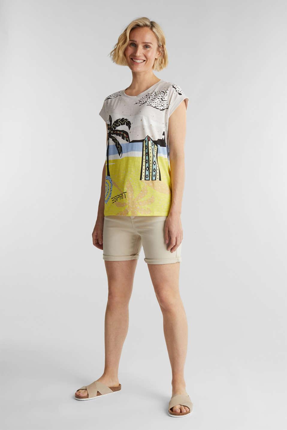 Print T-shirt, 100% organic cotton, OFF WHITE, detail image number 1
