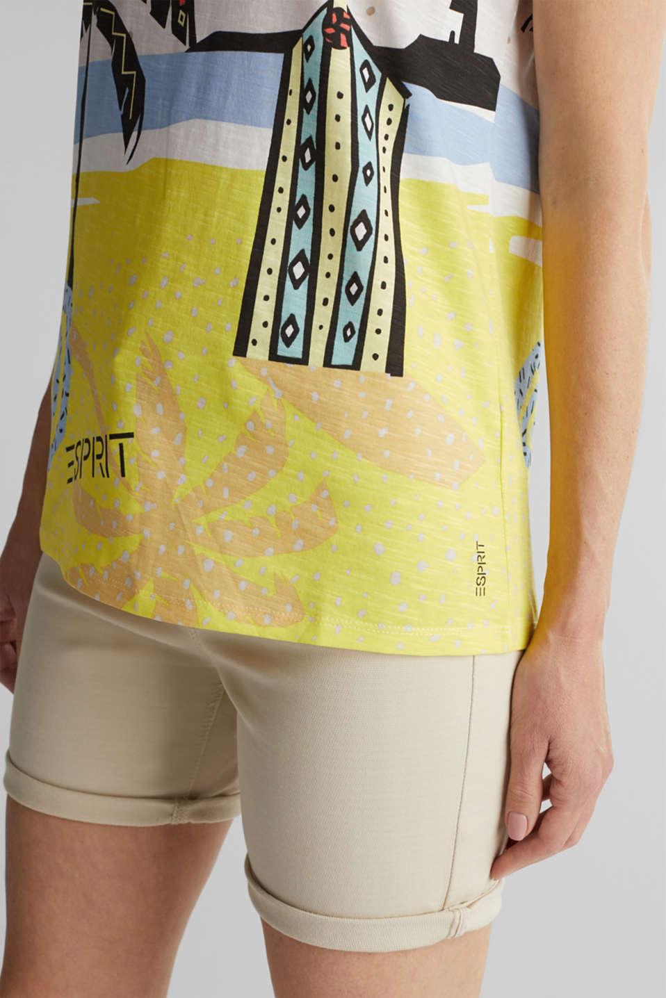 Print T-shirt, 100% organic cotton, OFF WHITE, detail image number 4
