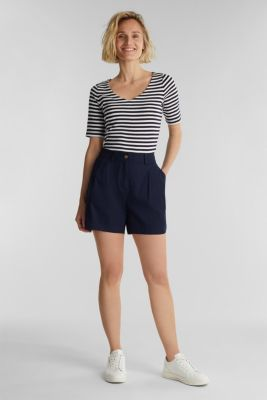 Jersey top made of 100% organic cotton, NAVY, detail