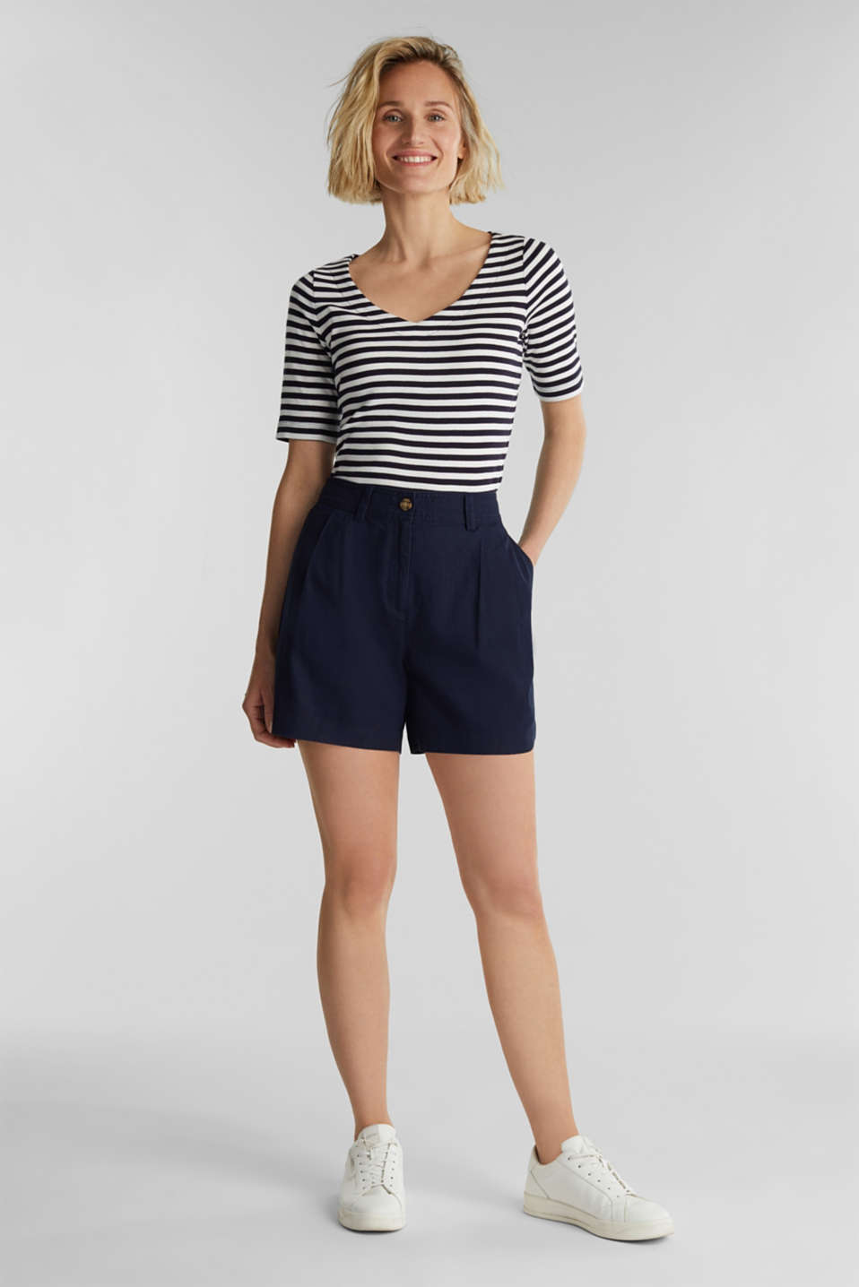 Jersey top made of 100% organic cotton, NAVY, detail image number 1
